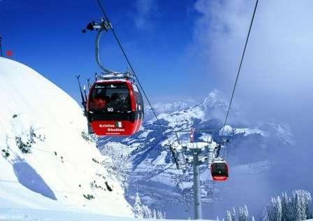 Ski Austria Kitzbuhel martie 2018 la inceput de primavara